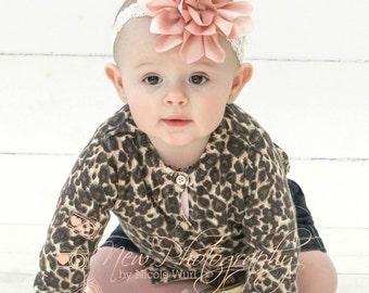 Baby Girl Headband, Chic Vintage Inspired headband, Lace Baby Headband, Newborn Headband, Baby Photo Prop, Toddler Headband, Hairbow,