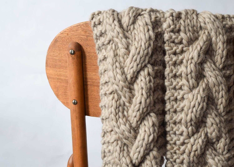 The Cascades Big Knit Scarf Pattern