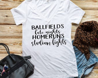 Softball Shirt  Baseball Shirt Homerun Shirt Ballfield Shirt Cute softball shirt Softball Mom Shirt Baseball Mom Shirt Cute Softball Gift