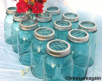 DIY Wedding Flowers Mason Jars Centerpieces 12 Upcycled FLOWER FROG Ball Jars Lids, Weddings, Garden, Flower Arrangement Lids Only, No Jars