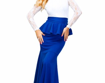 Maxi Dress / Combined dress / Guipure dress / long dress / elegant dress to the floor / Fall Spring Dress / Evening Basque Dress