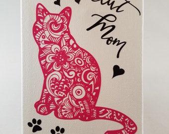 Pink Cat Mom