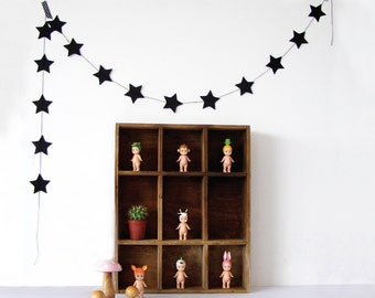 Black Star Garland, Paper Star Garlad, Birthday Decorations, Christmas decorations