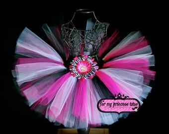 Hot Pink Zebra Tutu - newborn tutu, infant tutu, toddler tutu, baby tutu, dress up tutu, dance tutu, 1st birthday tutu, pageant tutu, tutu