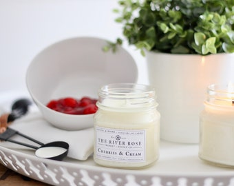 Cherries & Cream | 100% Natural Soy Candle | Hand-Poured