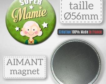 Magnet Magnet Super Grandma celebrating the great mothers gift Grandma Badge 56 mm