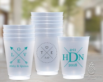 Personalized Cups | Monogram Cups | Custom Party Cups | Personalized Plastic Cups | Wedding Party Cups