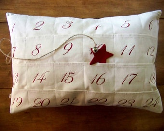 free shipping - advent calendar - christmas pillow - days til christmas - christmas gift - decoration - count down to christmas