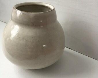 handmade white bud vase