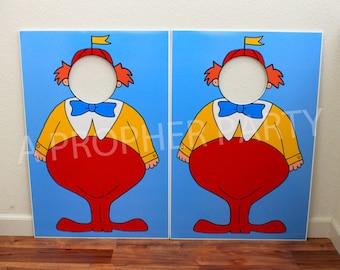 Alice in Wonderland - Tweedle Dee - Tweedle Dum - Character cut out - Tweedle Dee Prop - Alice in Wonderland Prop - Wonderland party