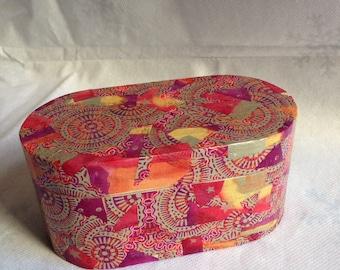 Summer decoupage wooden trinket box