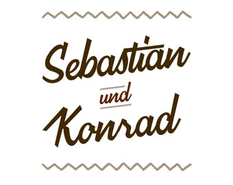 Logo - exklusiv personalisiert! Keine Mehrfachverwendung! [Partner, Label, Bier, Whiskey, Retro, Cookies, Coffee, Barber, Bike, Hipster]