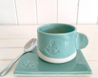 The turquoise espresso set