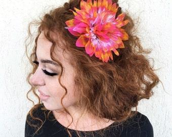 Colorful  Flower Crown, Flower Headband, Floral Headband, Floral Crown, Wedding Flower Headband, Floral  Wedding Headband, Hair Piece