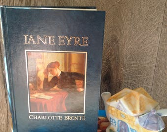 As New! 1980's Edition of JANE EYRE by CHARLOTTE Bronte // Last-century Jane Eyre Novel in Perfect Condition // Idea Gift For Reader