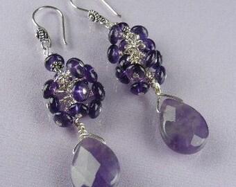 Purple Amethyst Earrings (Purple Passion)  by Gonet Jewelry Design