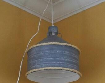 Metal industrial pendant lamp
