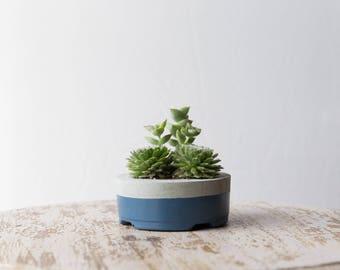 Small Concrete Planter, Slate