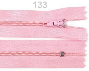 Pink mesh not separable zipper nylon 30cm