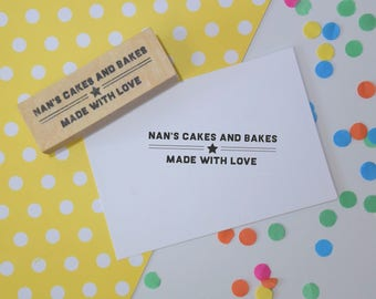 Skinny Bakers Stamp - food - cakes - jams - preserves - personalized