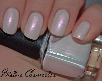 Ice Of Isis - White Pink shimmer Nail Polish