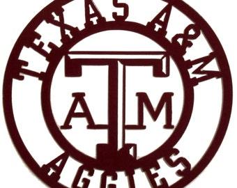 Texas A & M Sign, Metal, Aggies