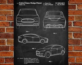 Tesla blueprints etsy tesla model s art print patent tesla model s vintage art blueprint malvernweather Images