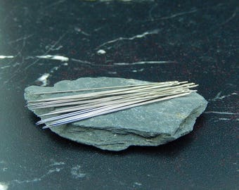 25 needles for beads 0.6 mm thick, 52 mm long