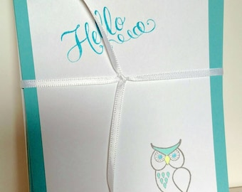 Hello Owl Note Cards