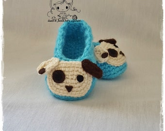 Doggy Baby Booties (newborn - 12 months) - PDF Crochet Pattern - Instant Download