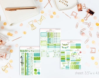 Sweet Succulents MINI Weekly Kit // 130+ Matte Planner Stickers // Perfect for your Personal Planner // WKM0220