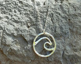 Wave Necklace Sterling Silver