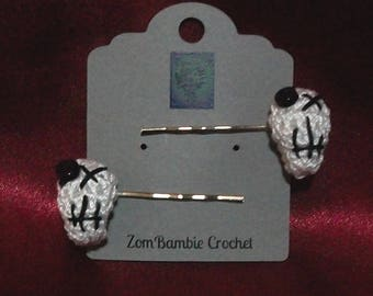 Crocheted Skull Bobby Pins