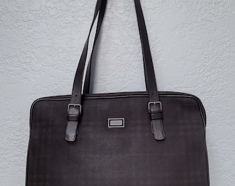 Burberry Vintage Brown Check Large Purse Tote Bag
