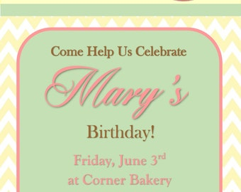 Birthday Invitation For Female - Generic Invitation