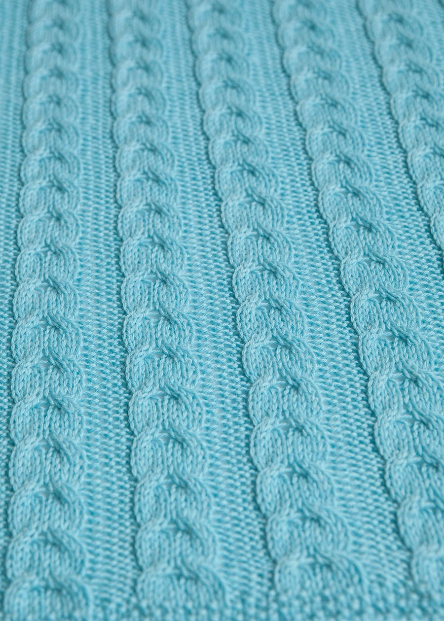 Fancy Cable Baby Blanket Knitting Pattern Crest - Great Sewing Ideas ...