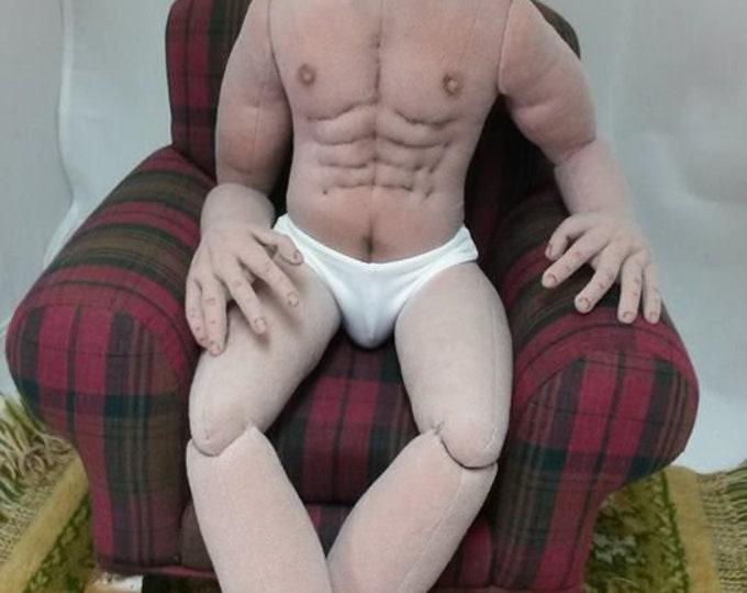 SA802E - Sam the Man Cloth Doll Pattern - Basic Male Body Sewing Instructions by Sheryl D'Ath