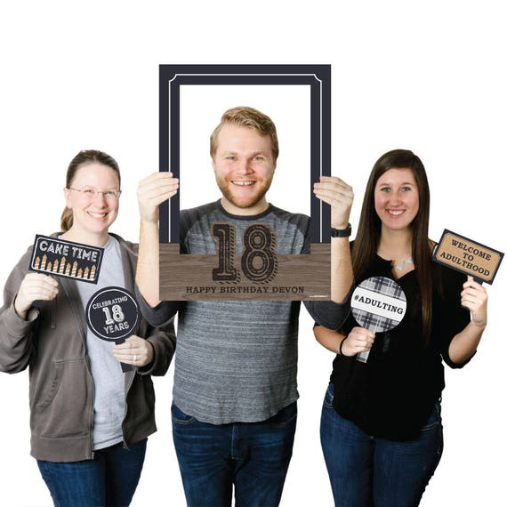 18th Birthday Personalized Selfie Photo Booth Picture Frame
