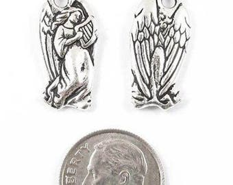TierraCast Pewter Charms-Silver Christmas Angel (2)