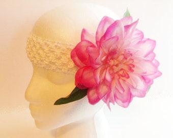 Floral Headband, Pink Floral Headband, Ladies Headband, Teen Headband, Girls Fancy Headband,Woman's Headband,Womans Headband,Headband FH66