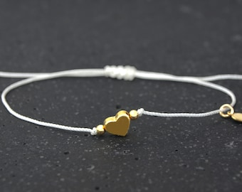Bracelet Tiny Heart White