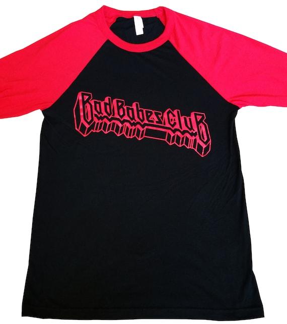 Bad Babes Club 80's 90's Metal Parody Baseball Raglan Unisex Tshirt