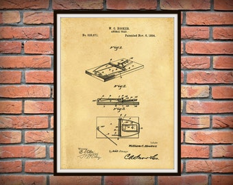 Patent 1894 Mouse Trap - Art Print - Poster - Home - Animal Trap - Rat Trap - Rodent Killer - Orkin Wall Art - Exterminator Wall Art
