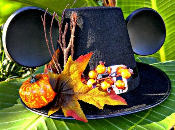 Mickey Thanksgiving Hat, mickey pilgrim hat, disney holiday hat, custom hat