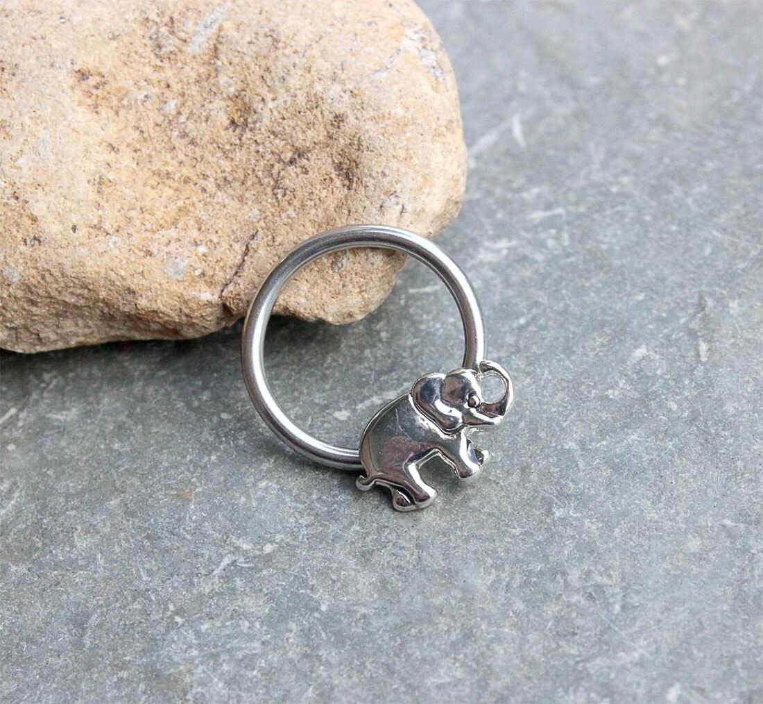 Elephant Nipple Ring Hoop Conch Earring HoopCartilage