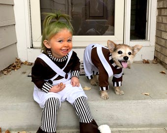 Oompa-Loompa dog costume, Halloween dog costume, Charile & the Chocolate Factory