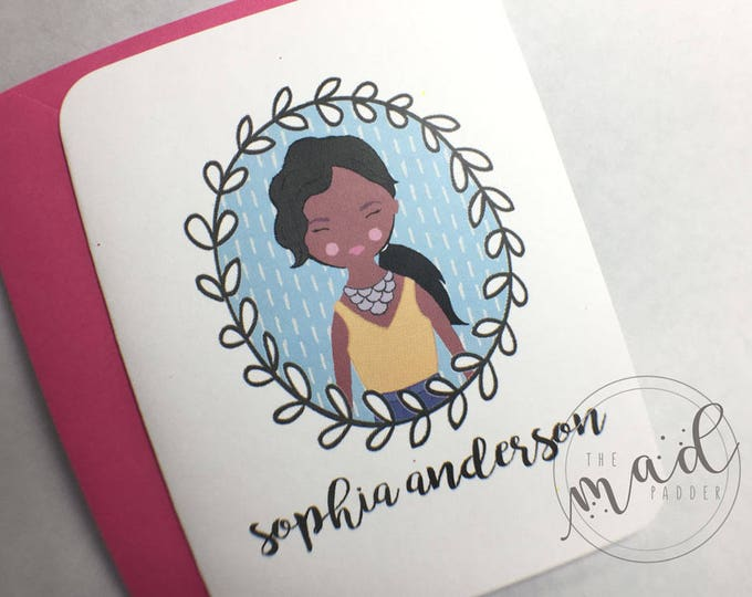 Fancy Lady Personalized Note Card Set