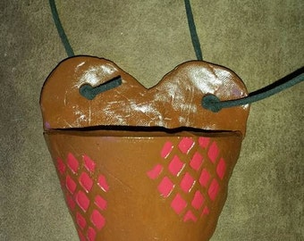 Heart shaped hanging pot