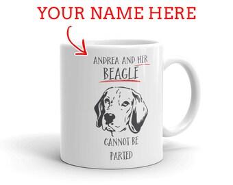 Beagle Gift - Personalized Beagle Mug - Gift For Beagle Lovers - Beagle Mom - Beagle Dad - Dog Lover Gift