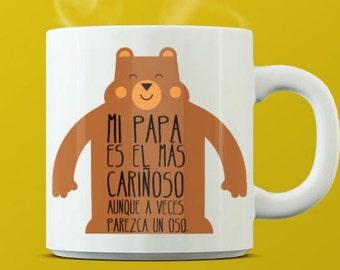 Taza Regalo, Taza papá , taza papá oso, taza san Valentín